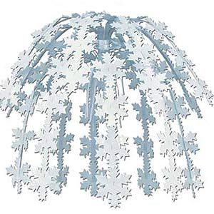 475 - Winter Wonderland Cascading Snowflake Centrepiece  For more details, go to our facebook page.   www.facebook.com/popitinaboxbussiness
