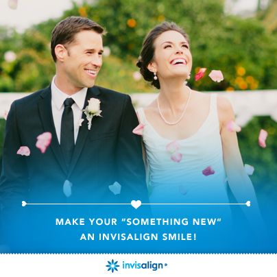 Image result for Invisalign picture bride and groom