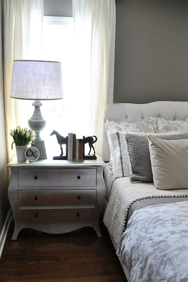 A gray guest bedroom makeover