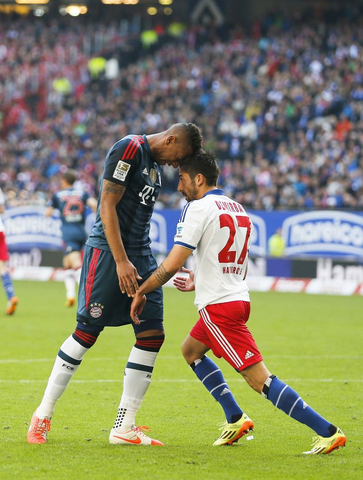 Jerome Boateng of FC Bayern vs Kerem Demirbay of Hamburger SV