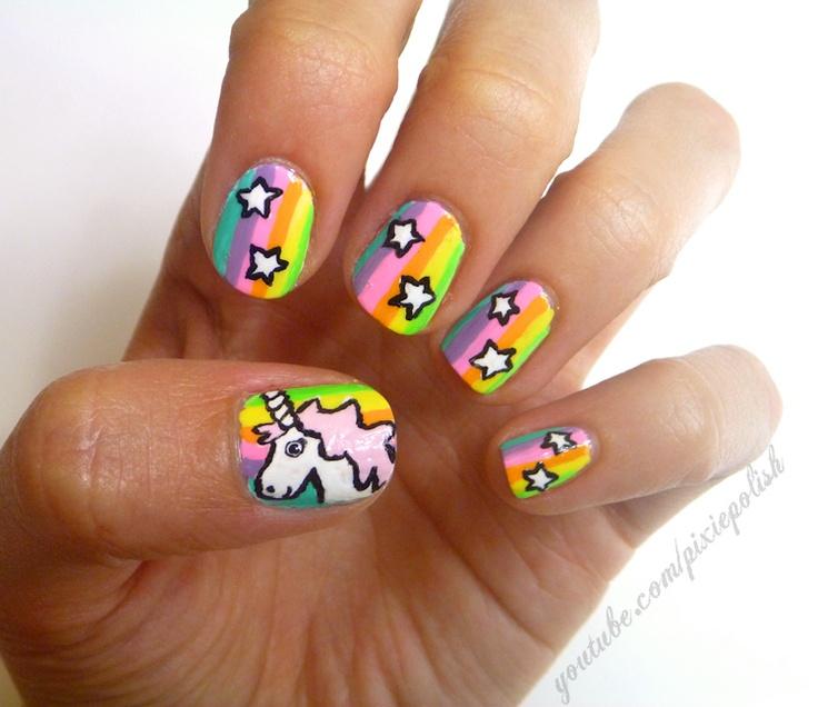 Unicorn Tipped Nail Art: 17 Best Unicorn Nails Images On Pinterest