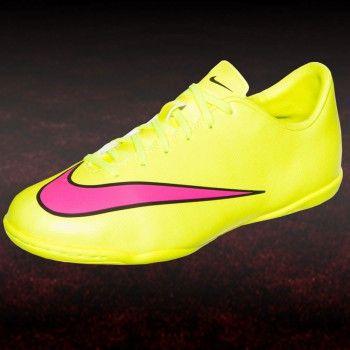 Nike JR Mercurial Victory V IC Kinder Hallen Fußballschuh gelb pink  #hallenfußballschuhe #nike