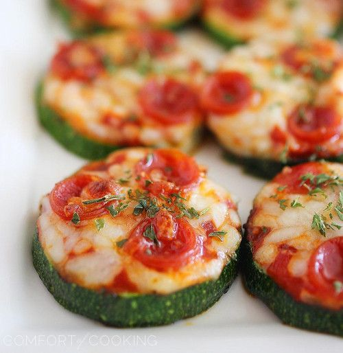 Zucchini Pizza Bites - Cute little pizza appetizers, for when you're craving some cheese.