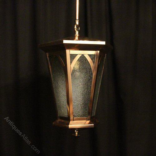Antiques Atlas - English Copper Exterior Antique Lantern