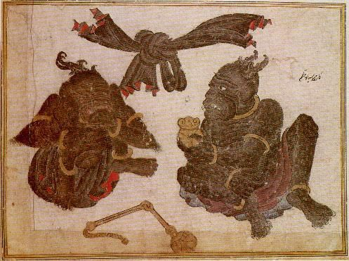 Bound Demons Mehmed Siyah Qalem. From the Sarai Albums. Turkestan, beginning of 15th century
