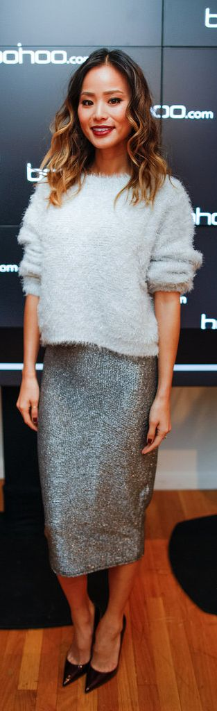Jamie Chung in the perfect holiday party outfit!