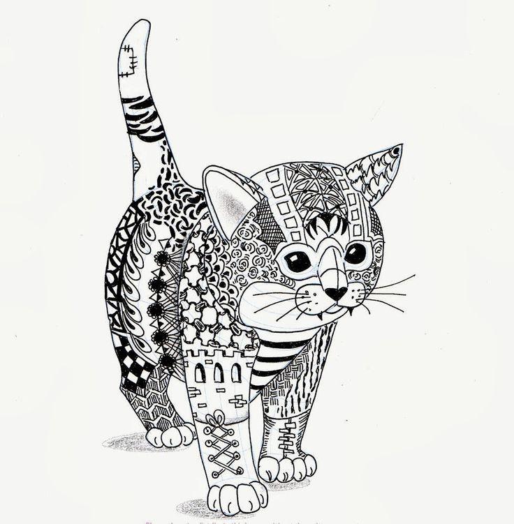 Efie Goes Zentangle Kitten Van Ben Kwok
