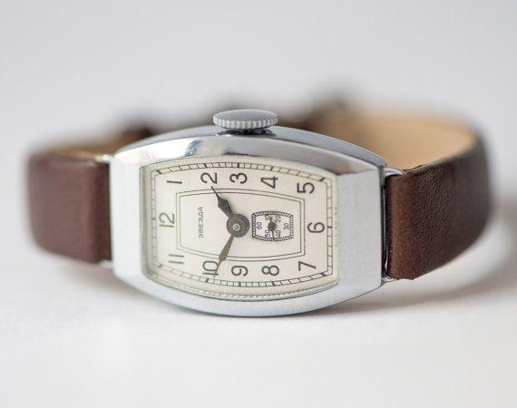 Mid century ladies wrist watch Star unused Soviet by SovietEra, $99.00