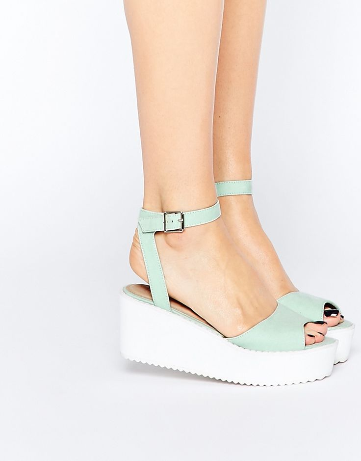 Mint Wedge Sandals