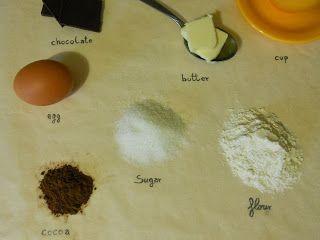 Simple chocolate cake in a mug courtesy of Caffènero1dei7 blog