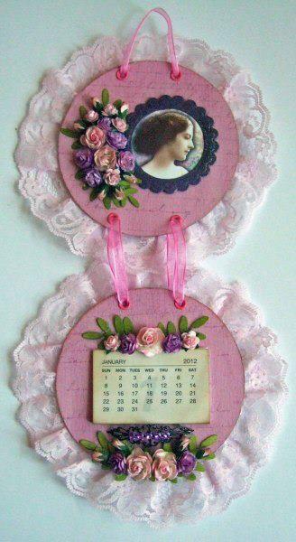 Altered CD Wall hanging/Calendario y porta retrato con Cds !!!!!