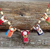 Подвеска оригинальная – купить или заказать в интернет-магазине на Ярмарке Мастеров | Украшение на шею по мотивам мезенской росписи.
