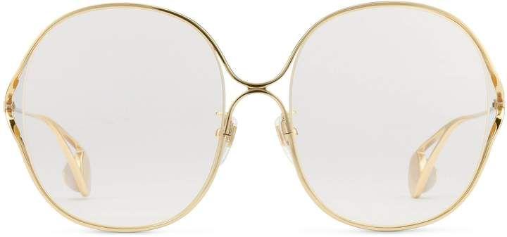 c02932d2cc Gucci Round-frame metal glasses