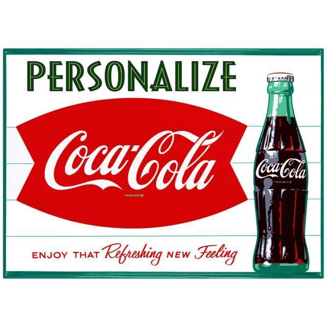 Coca Cola Welcome Tin Metal Sign Tennis Soda Machine Coke Pop NEW