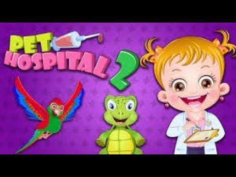 Baby Hazel Pet Hospital 2 |  Doctor Game Cartoon for Kids |Baby Learn Ho...