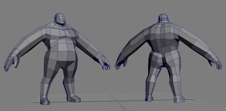 Big, very low poly topology