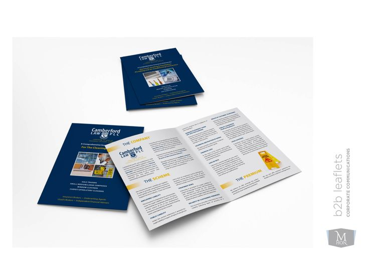 B2B leaflets. By Sama Studio Ltd.