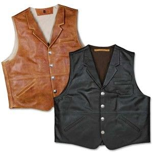 NRA Coronado Classic Lapel Concealed Carry Leather Vest