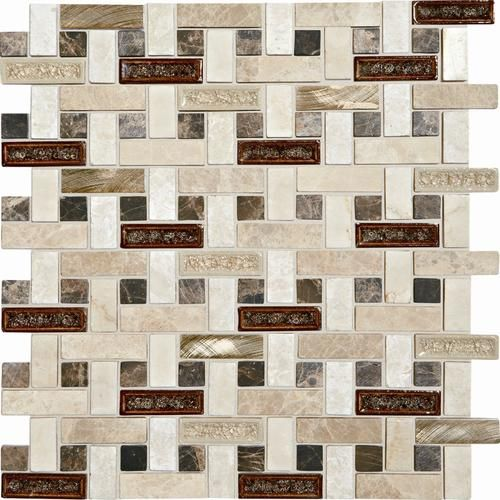 mohawk phase mosaics stone and glass wall tile 5 8 x 2 basketweav