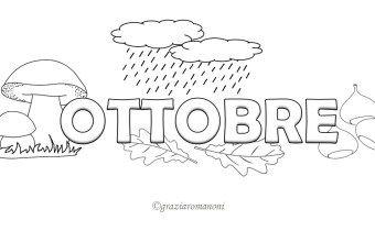 Calendario per bambino, colora ottobre