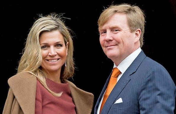 On January 07, 2016, King Willem-Alexander and Queen Maxima of The Netherlands meet the European commission at the start of the Dutch European Presidency at the Royal Palace in Amsterdam, The Netherlands.