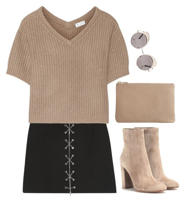 """""""Untitled #6424"""" by heynathalie ❤ liked on Polyvore featuring Mode, Michael Kors, Brunello Cucinelli, Gianvito Rossi, Quay und Wittner"""