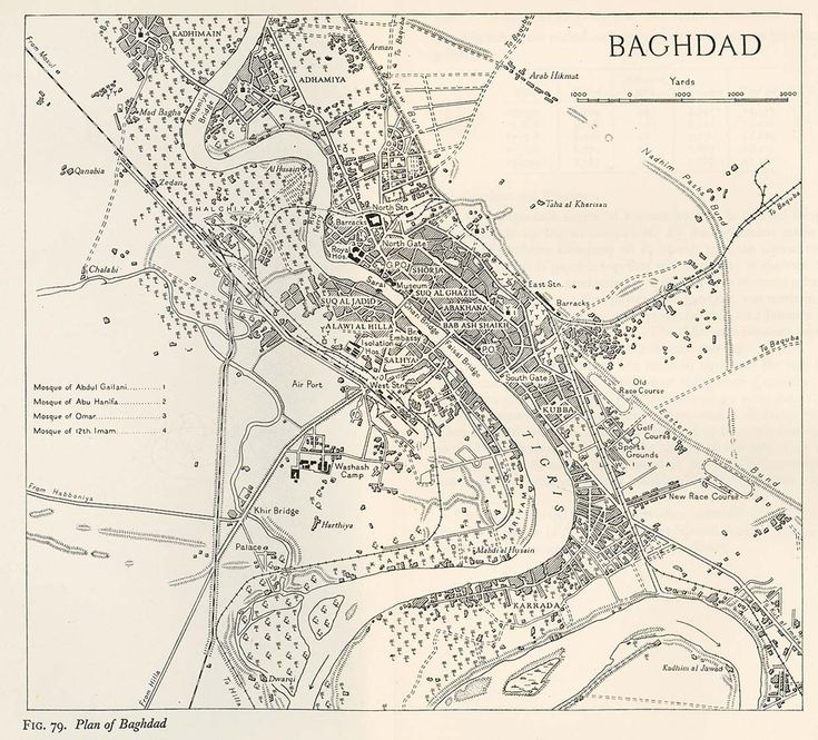 map of baghdad in 1944 iraq map baghdad