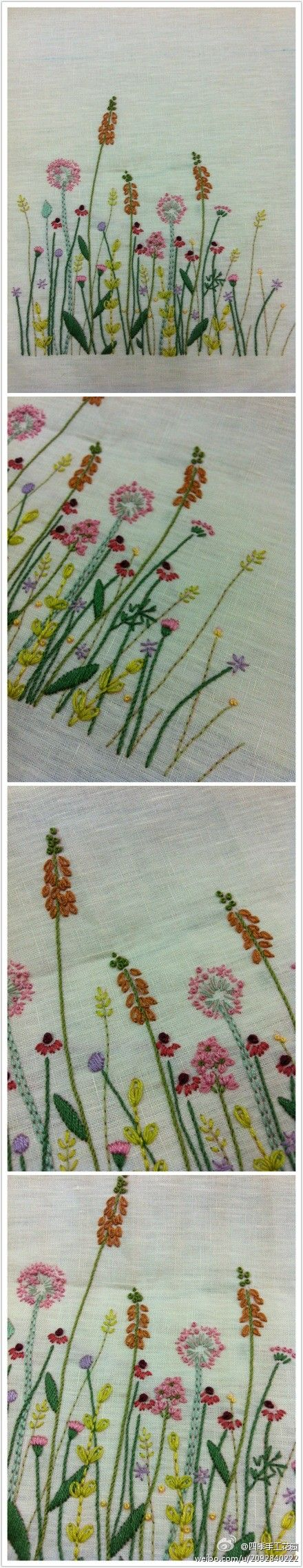 Best ideas about embroidered flowers on pinterest