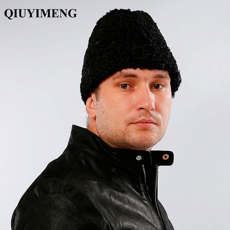 Frence Gentleman Hats Genuine Sheepskin Fur Male Cold Winter Leifeng New Cap Bomber Hats 2016 Casual Lambswool Men's Fur Hats