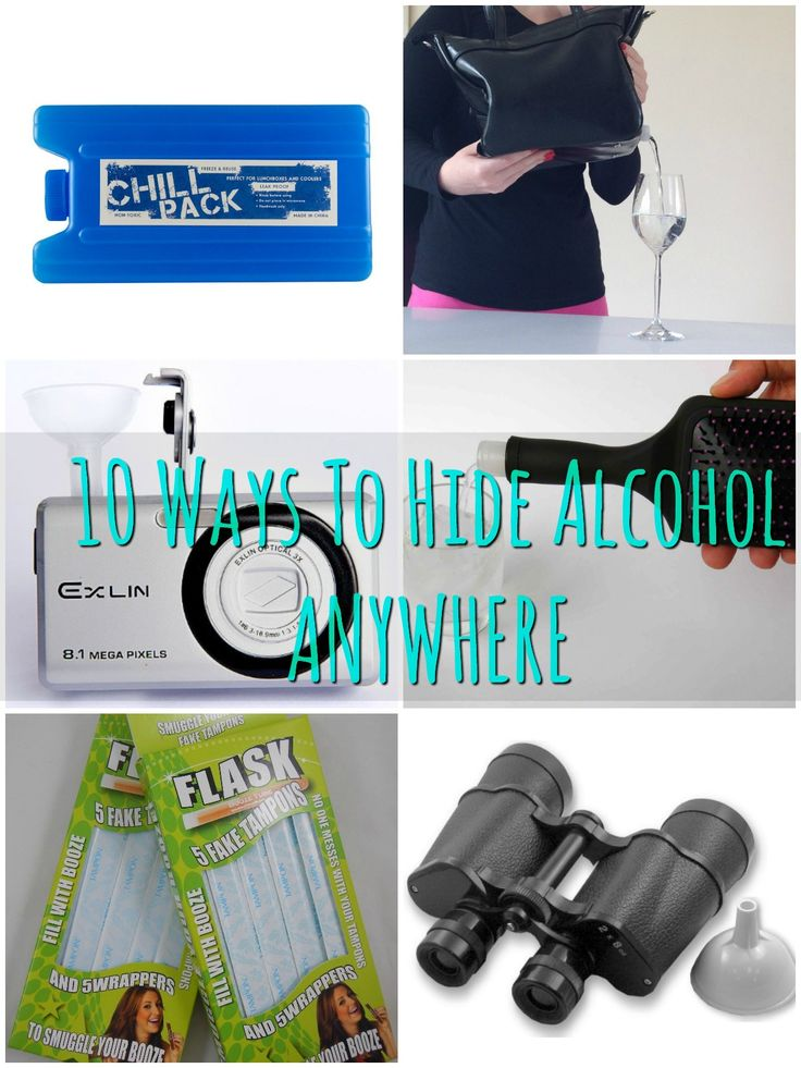 how to hide alcohol