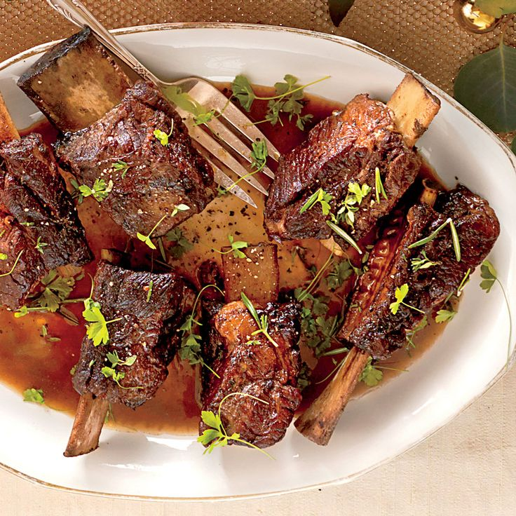 Beef Short Ribs | This dish looks so impressive but requires little effort. You don't have to use an expensive bottle of wine for cooking, but make sure you like the flavor.