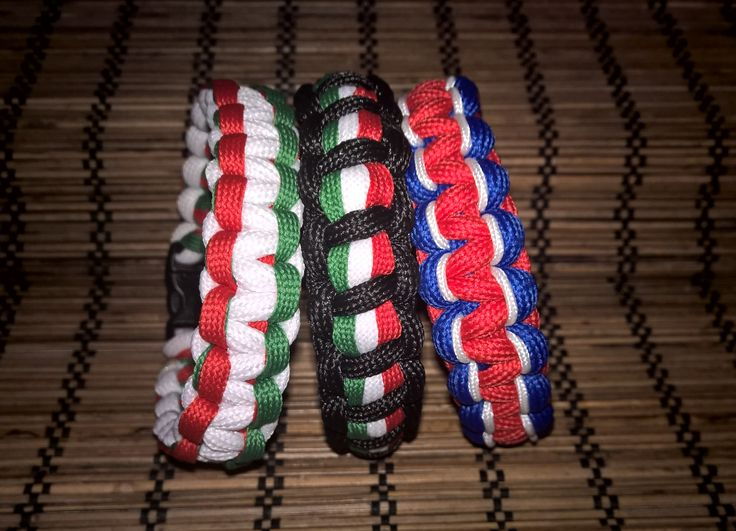 Flags (Hungarian, Italian and English) bracelets