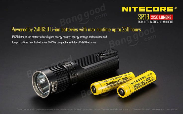 Nitecore SRT9 XHP50 2150LM Multi-LEDs Tactical LED Flashlight 246M