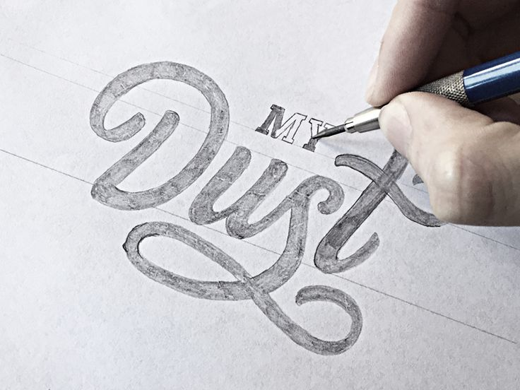 Hand Lettering Tutorial - Typography process by Paul von Excite