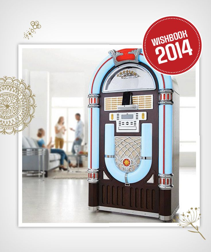 Liven up your holiday party with a full-sized jukebox from Crosley