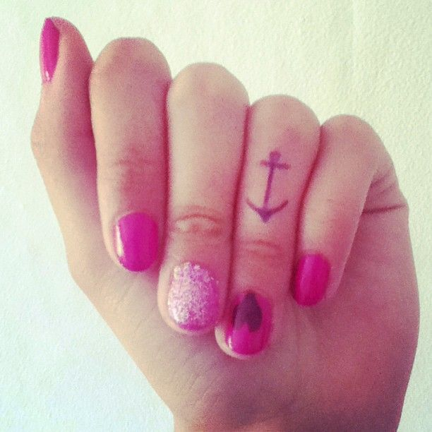Elegant Small Anchor Tattoos for Finger woulld get the anchor replicated of the anchor pin my dad gave to me which his dad gave to him