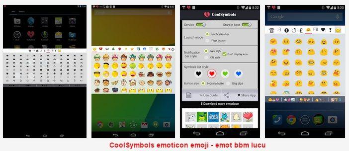 Aplikasi Emoticon untuk BBM