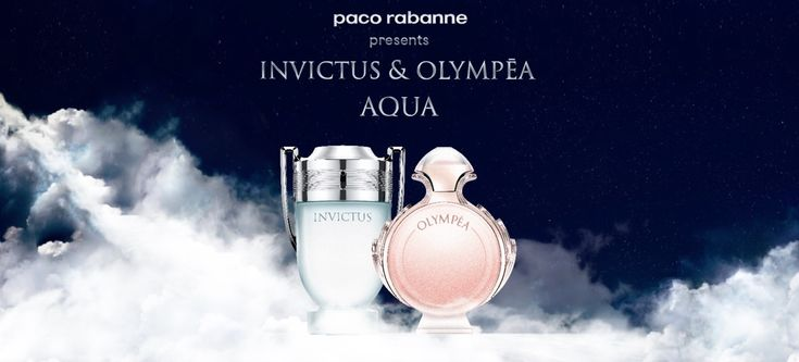#PacoRabanne #fragrances #Olympèa #Invictus Aqua