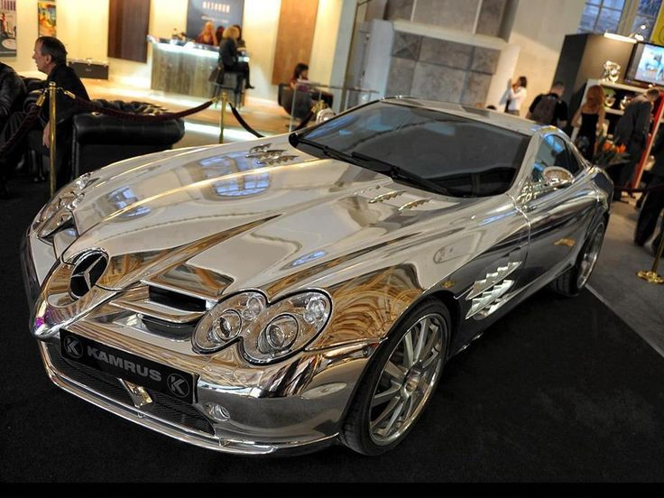 Pure White Gold Mercedes Benz  Owned by an oil billionaire in Abu Dhabi, The car is made using 18k white gold and has stunning features such as the newly developed V10 quad turbo with 1,600 horsepower and 2800 nm of torque 0-100 km/h in less than 2 seconds, 1/4 mile in 6.89 seconds running on bio fuel.