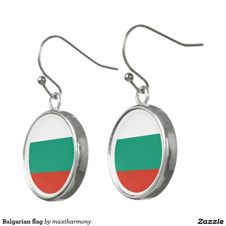 Bulgarian flag earrings