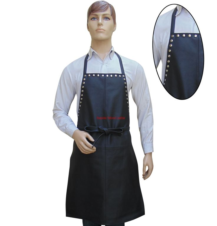 Black Leather Apron With Metal Stud Work-Steampunk style