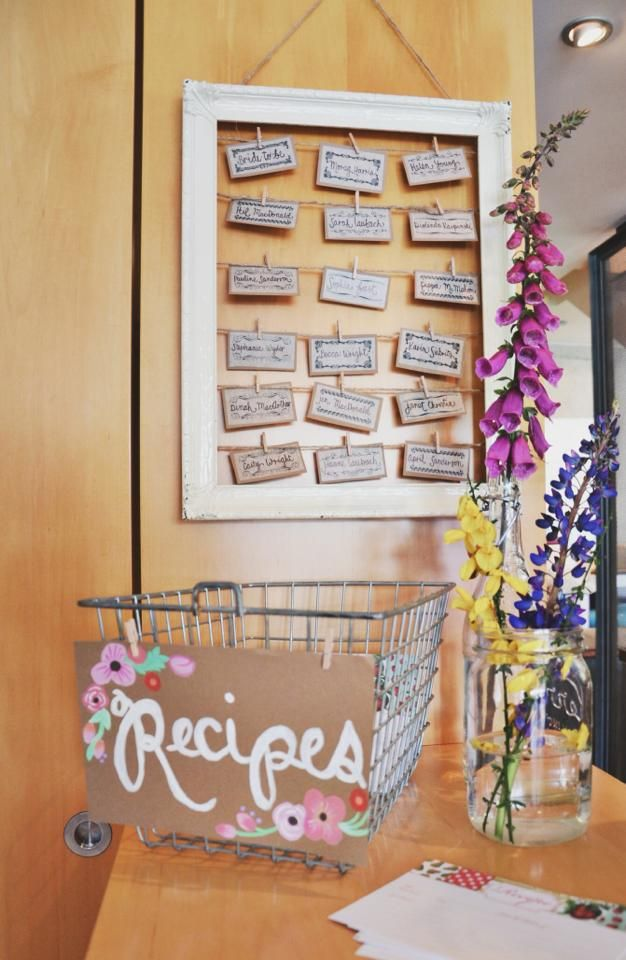 """wedding shower recipes for the bride to be - I like this idea, but change """"look"""" to match theme"""