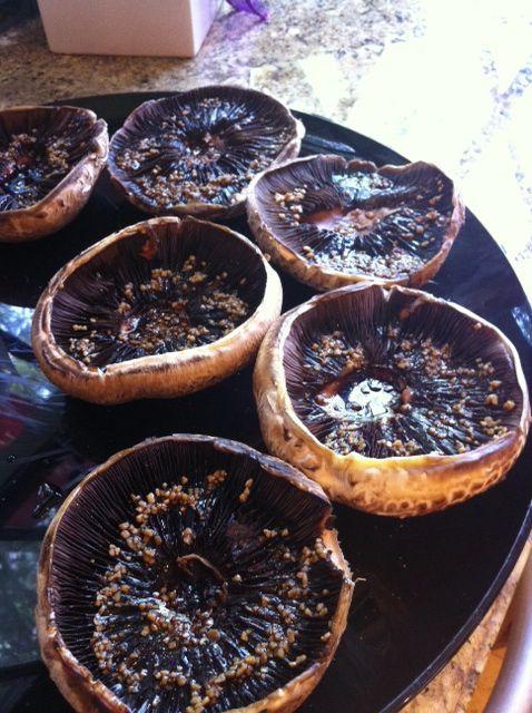 Easy Marinated & Roasted Portabella Mushrooms...roast them up and use them instead of a hamburger patty...yum!