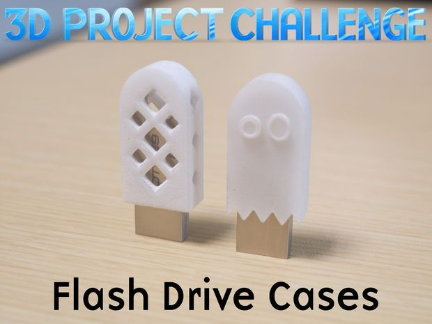 3d Project Challenge: Flash Drive Cases style