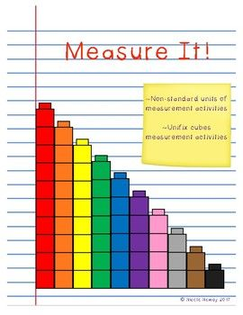 Fun, hands-on, non standard measurement activities for kindergarteners and first graders that uses non-standard items and unifix cubes as forms of measurement. Great activities to use when teaching measurement and getting students used to measuring items.