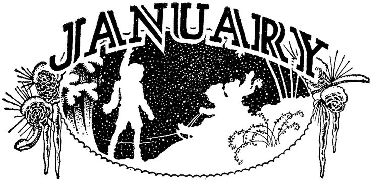 Vintage January Image! - The Graphics Fairy