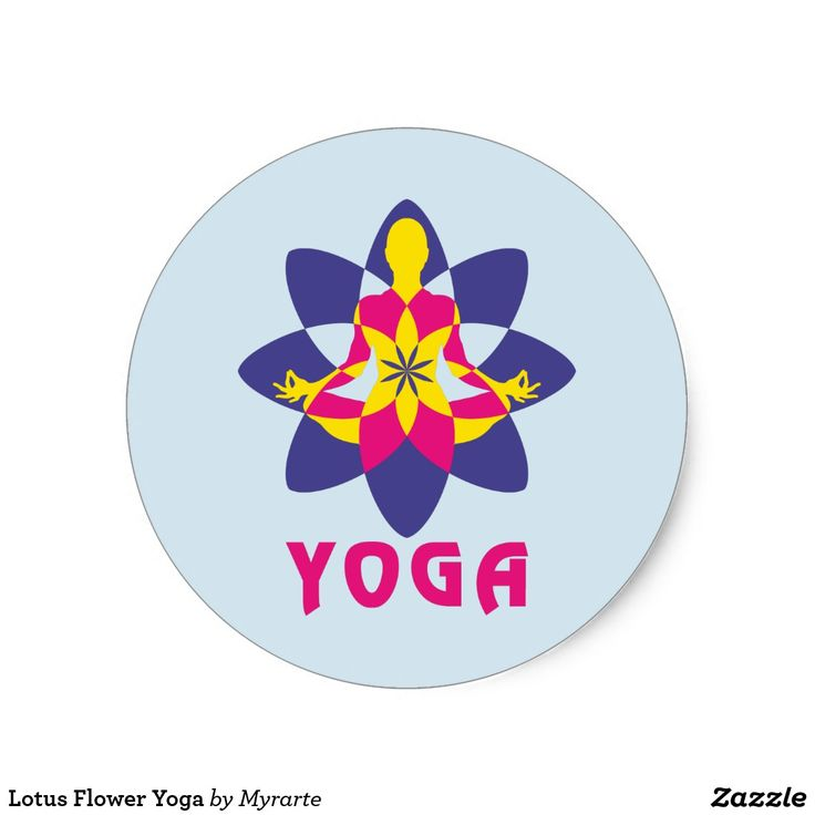 Lotus Flower Yoga. Yoga Flor de Loto. Producto disponible en tienda Zazzle. Product available in Zazzle store. Regalos, Gifts. #sticker #yoga