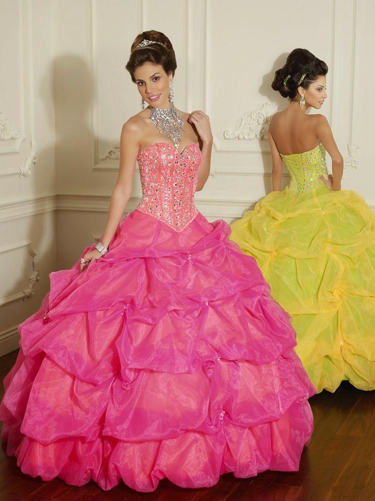 22 best vestidos de fiesta images on Pinterest | 15 anos dresses ...