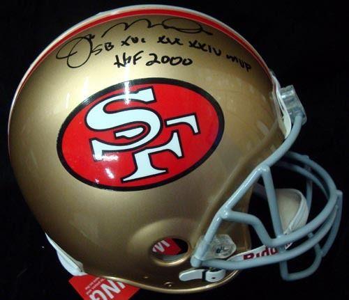 Joe Montana Autographed San Francisco 49'ers Full Size Authentic Proline Helmet With Stats #/16 UDA