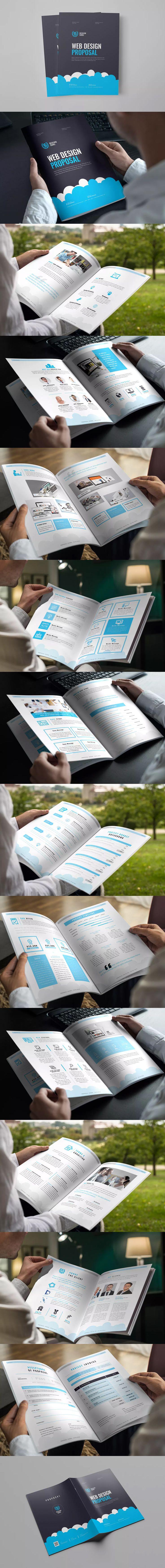 Web Design Proposal Template InDesign INDD